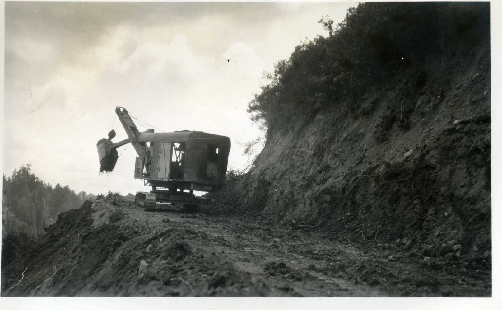 1930 County Steam Shovel Opening the Road to Camp Loma
