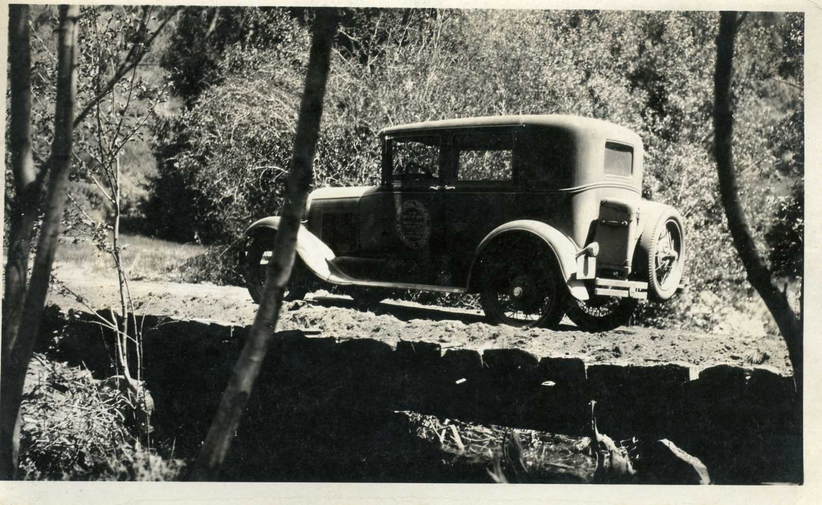 1931 Completed Bridge Across Soquel Creek (Highland Farm Center Project)