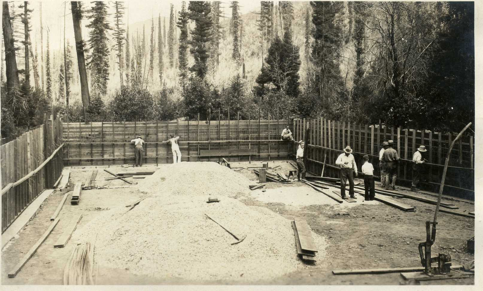 1931 June 7, Building of Camp Pool