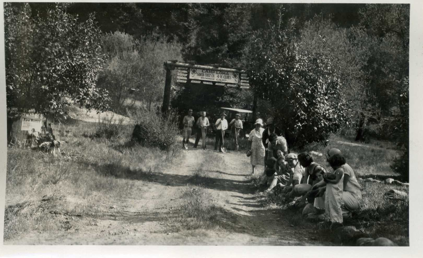 1933 Boulder Creek 4-H Club finishing Road to Camp Loma