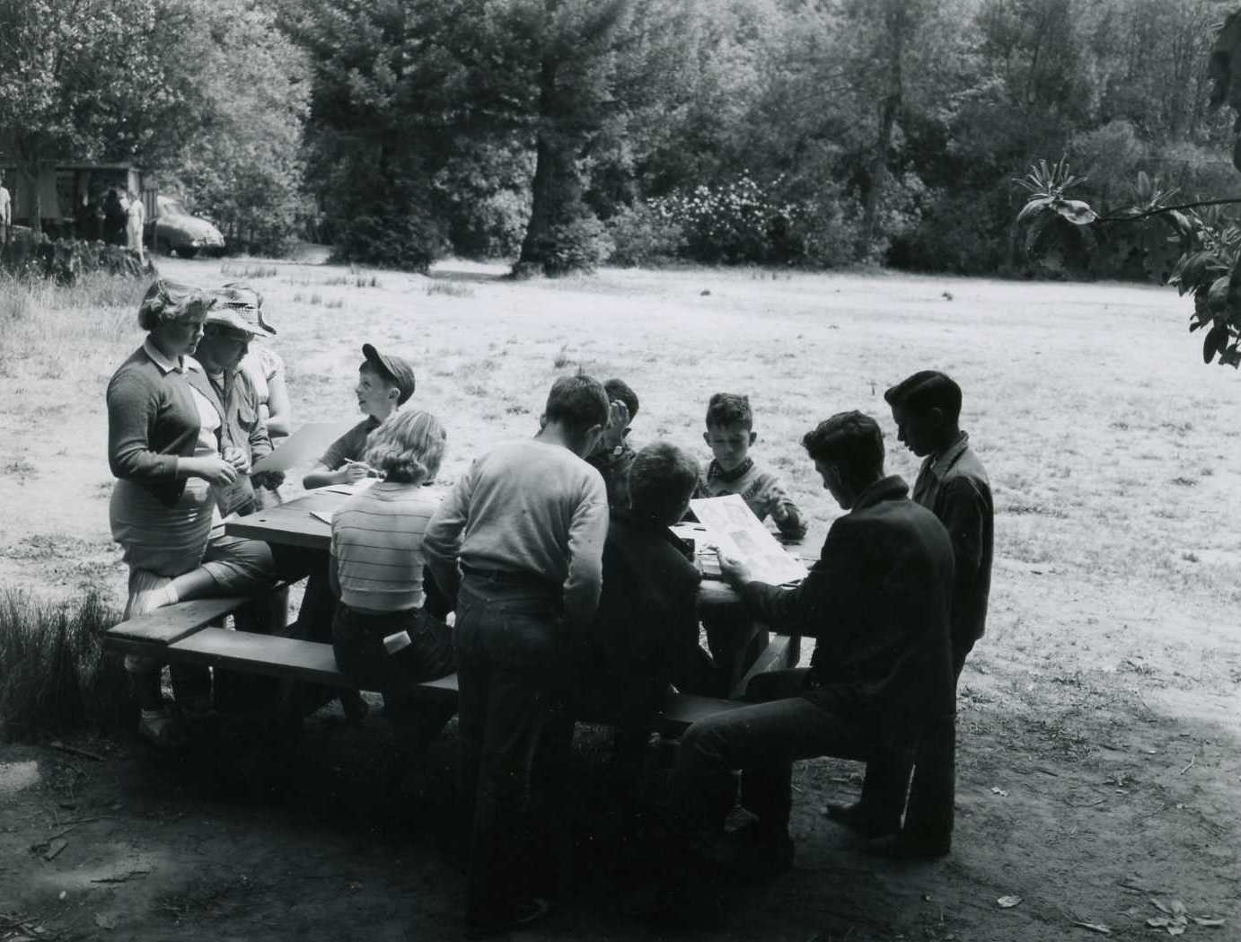 Camp Class in Meadow _NO DATE