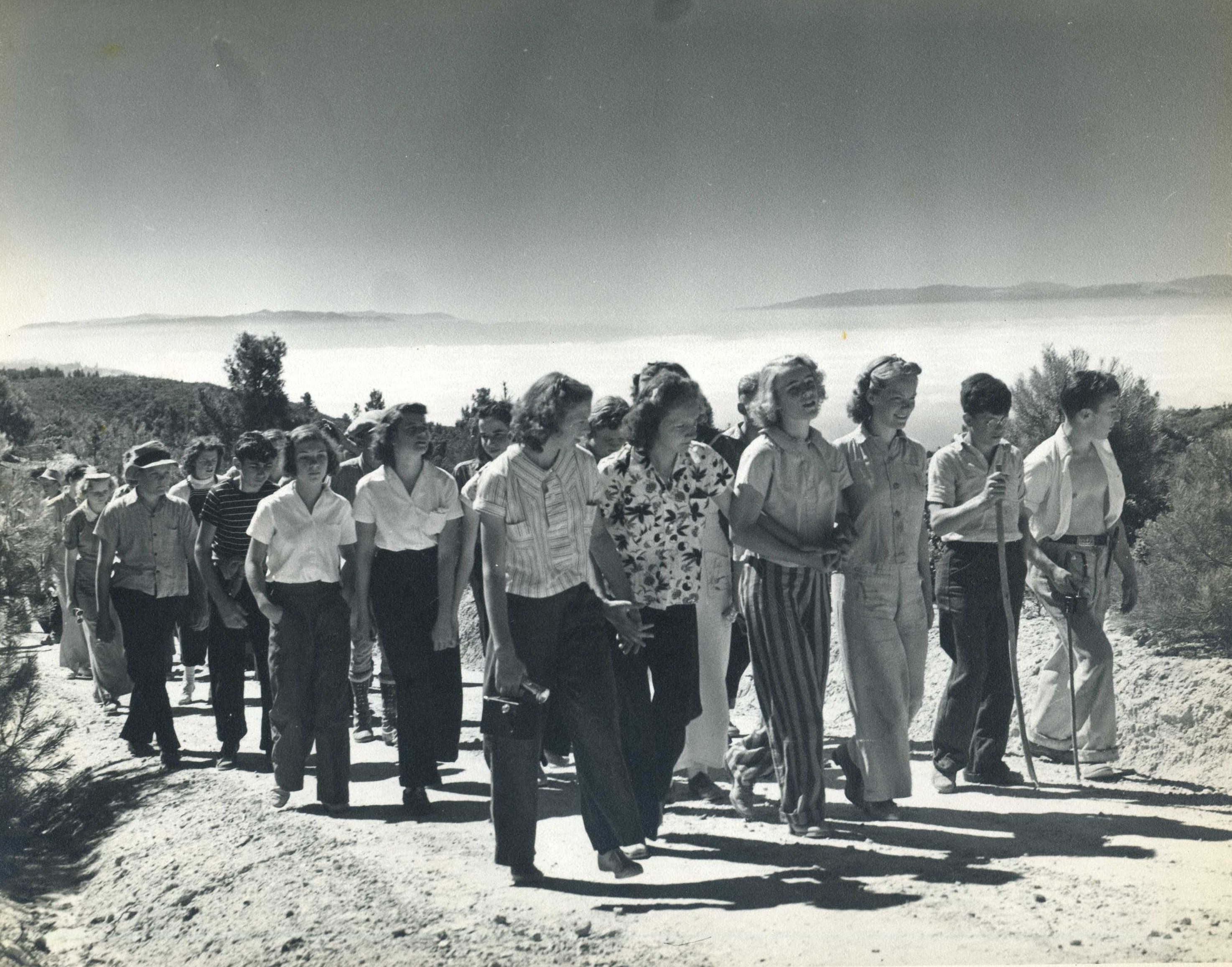 Camp Hike 1950's _NO DATE